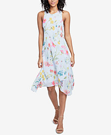 RACHEL Rachel Roy Flora Printed Scarf Dress, Created for Macy's