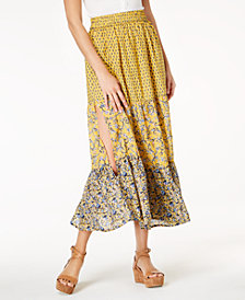 French Connection Savana Mixed-Print Pull-On Skirt