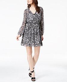 MICHAEL Michael Kors Printed Keyhole Dress, Regular & Petite