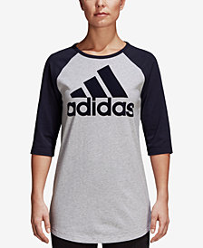adidas Cotton 3/4-Sleeve Baseball T-Shirt