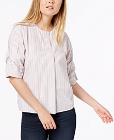 Calvin Klein Jeans Cotton Striped Button-Down Top