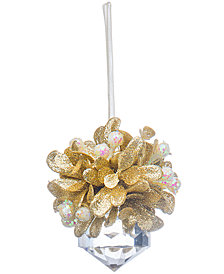 Ganz Teeny Clear Jewel-Shaped Ornament with Gold Topper