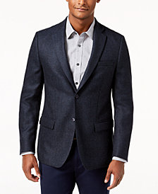 Michael Kors Men's Classic-Fit Blue/Brown Neat Sport Coat