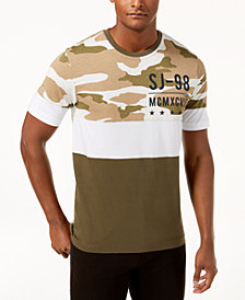Sean John Men's Split Camo T-Shirt