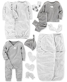 Carter's Baby Elephant-Print Layette Separates