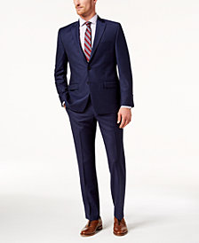 Lauren Ralph Lauren Men's Classic-Fit Ultraflex Stretch Navy Windowpane Suit