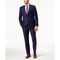 Lauren Ralph Lauren Men's Classic-Fit Ultraflex Stretch Windowpane Suit (Navy)