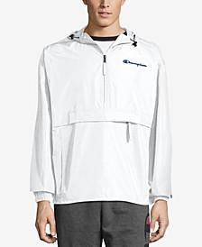 Men's Packable Half-Zip Hooded Water-Resistant Jacket