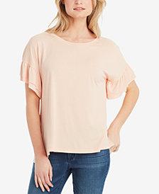 Jessica Simpson Olympia Ruffled-Sleeve T-Shirt
