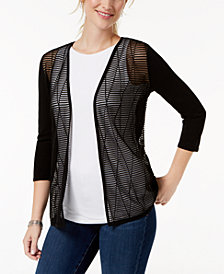 Charter Club Sheer-Front Sweater, Created for Macy's