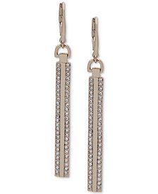DKNY Gold-Tone Pavé Linear Drop Earrings
