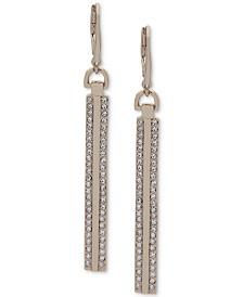 DKNY Pavé Linear Drop Earrings