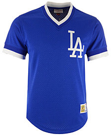 Mitchell & Ness Men's Los Angeles Dodgers Mesh V-Neck Jersey