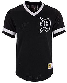 Mitchell & Ness Men's Detroit Tigers Mesh V-Neck Jersey