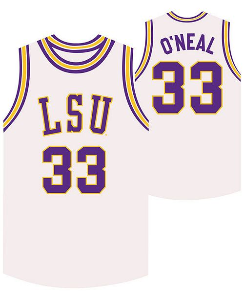 on sale fd376 3371d Retro Brand Men's Shaquille O'Neal LSU Tigers Throwback ...