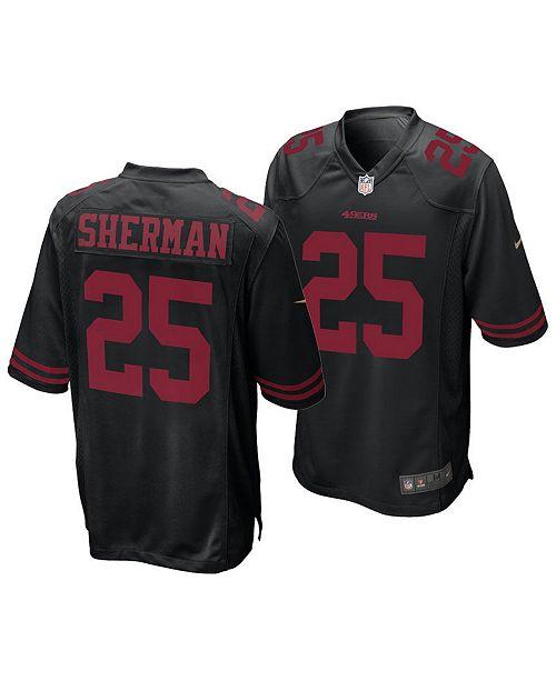 detailed look 875e7 e9453 Men's Richard Sherman San Francisco 49ers Game Jersey