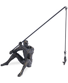 Fisherman Figurine Black
