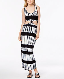 Material Girl Juniors' Cutout Tie-Dye Maxi Dress, Created for Macy's