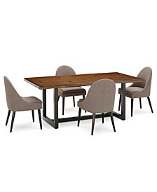 Everly Dining Furniture, 5-Pc. Set (Table & 4 Round Back Side Chairs), Created for Macy's