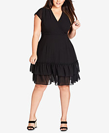 City Chic Trendy Plus Size Dreamy Fit & Flare Dress