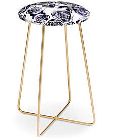 Deny Designs Holly Sharpe Inky Roses Counter Stool