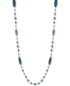"Anne Klein Silver-Tone Multi-Stone 42"" Strand Necklace"