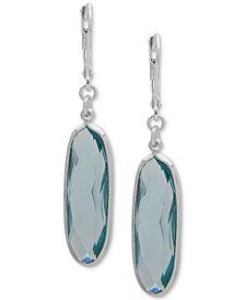Anne Klein Silver-Tone Stone Drop Earrings