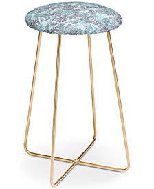 Deny Designs Jacqueline Maldonado Folk Floral Grey Counter Stool