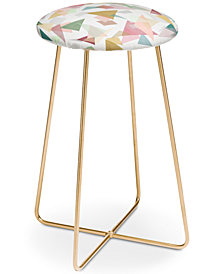 Deny Designs Mareike Boehmer Triangle Confetti Counter Stool