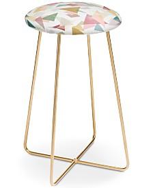 Deny Designs Mareike Boehmer Triangle Confetti Counter Stool