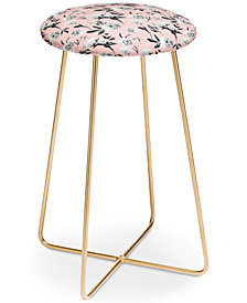Deny Designs Lisa Argyropoulos Peonies Mono Blush Counter Stool