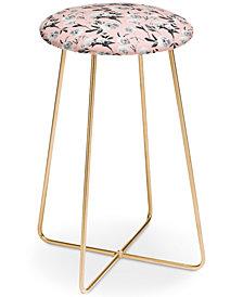 Deny Designs Lisa Argyropoulos Peonies Mono Blush Counter Stool