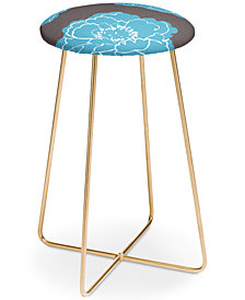 Deny Designs Caroline Okun Autumn Peony Counter Stool