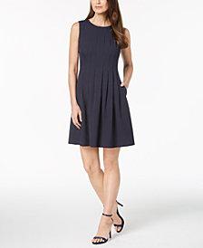 Anne Klein Printed Pleated Dress
