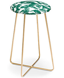 Deny Designs The Old Art Studio Palm Leaf Pattern Counter Stool