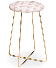Deny Designs Lisa Argyropoulos Sunflowers and Blush Counter Stool