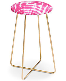 Deny Designs Monika Strigel Wake Up Call Hotpink Counter Stool