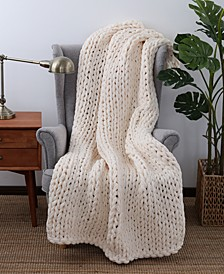 "Chunky-Knit 50"" x 60"" Throw"