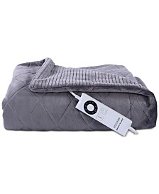 "Berkshire Diamond VelvetLoft 50"" x 62"" Electric Throw Blanket"