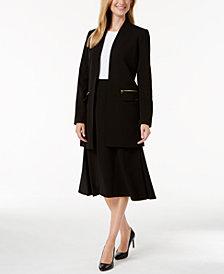 Calvin Klein Open-Front Jacket & A-Line Skirt