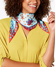 Echo Sea Life Silk Diamond Bandana Scarf