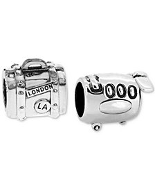 Rhona Sutton 2-Pc. Set Jetsetter Bead Charms in Sterling Silver