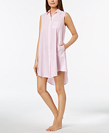 Miss Elaine Striped High-Low Nightgown
