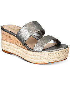 Callisto Foundation Espadrille Platform Wedge Sandals