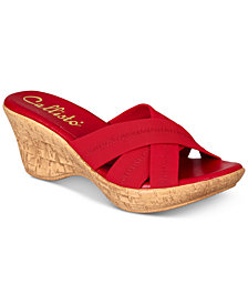 Callisto Odessa Slide Platform Wedge Sandals, Created for Macy's