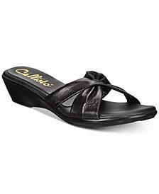 Callisto Staunton Slide Wedge Sandals, Created for Macy's