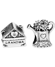 Rhona Sutton 2-Pc. Set Grandma's Home & Watering Can Bead Charms in Sterling Silver