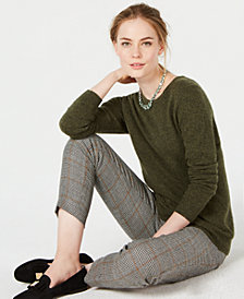 Charter Club Pure Cashmere Solid Crewneck Sweater  in Regular & Petite Sizes, Created for Macy's