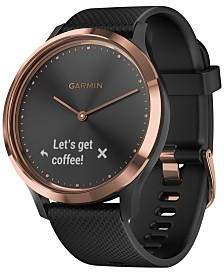 Garmin Unisex Vivomove HR Sport Black Silicone Strap Touchscreen Smart Watch 43mm