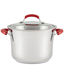 Rachael Ray Classic Brights Stainless Steel 6.5-Qt. Stockpot & Lid
